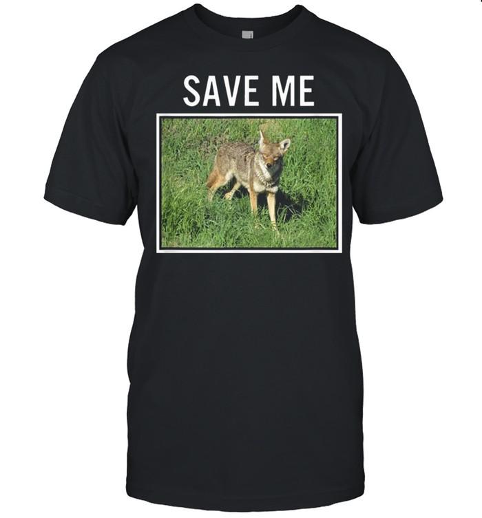 Coyote Photo Save Me Wild Dog San Diego California El Cajon shirt Classic Men's T-shirt