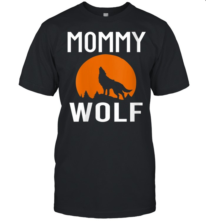 Wolves With Moon Family Matching Mommy Wolf shirt Classic Men's T-shirt