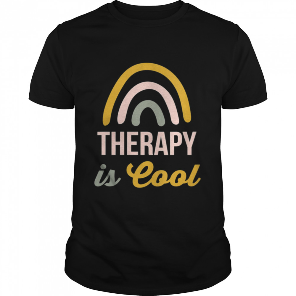 Therapy is Cool Rainbow Counselor  Classic Men's T-shirt