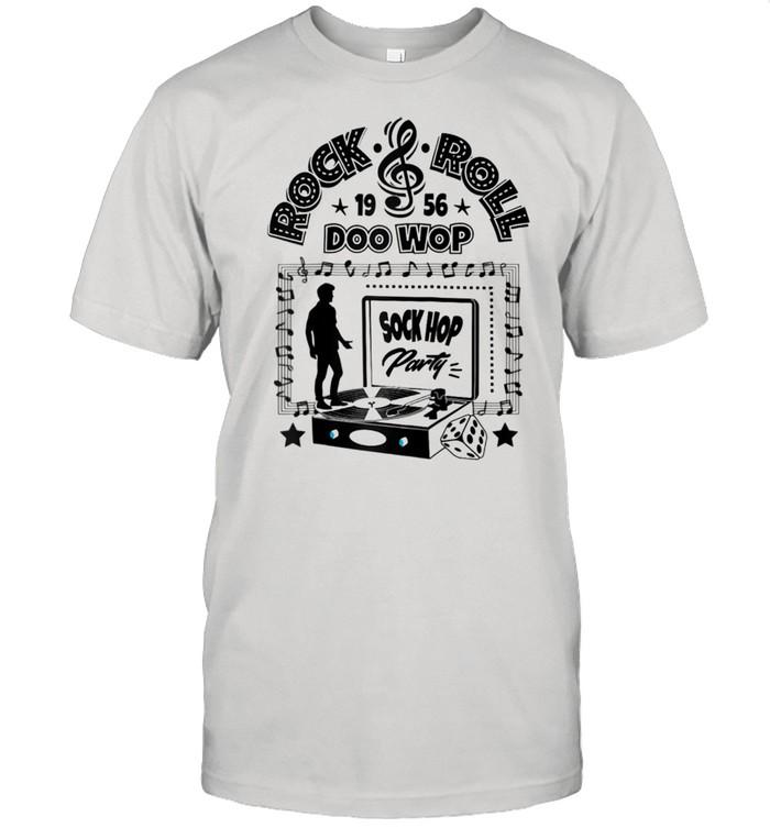 50s Sock Hop Party Doo Wop Rockabilly 1950s Rock and Roll  Classic Men's T-shirt