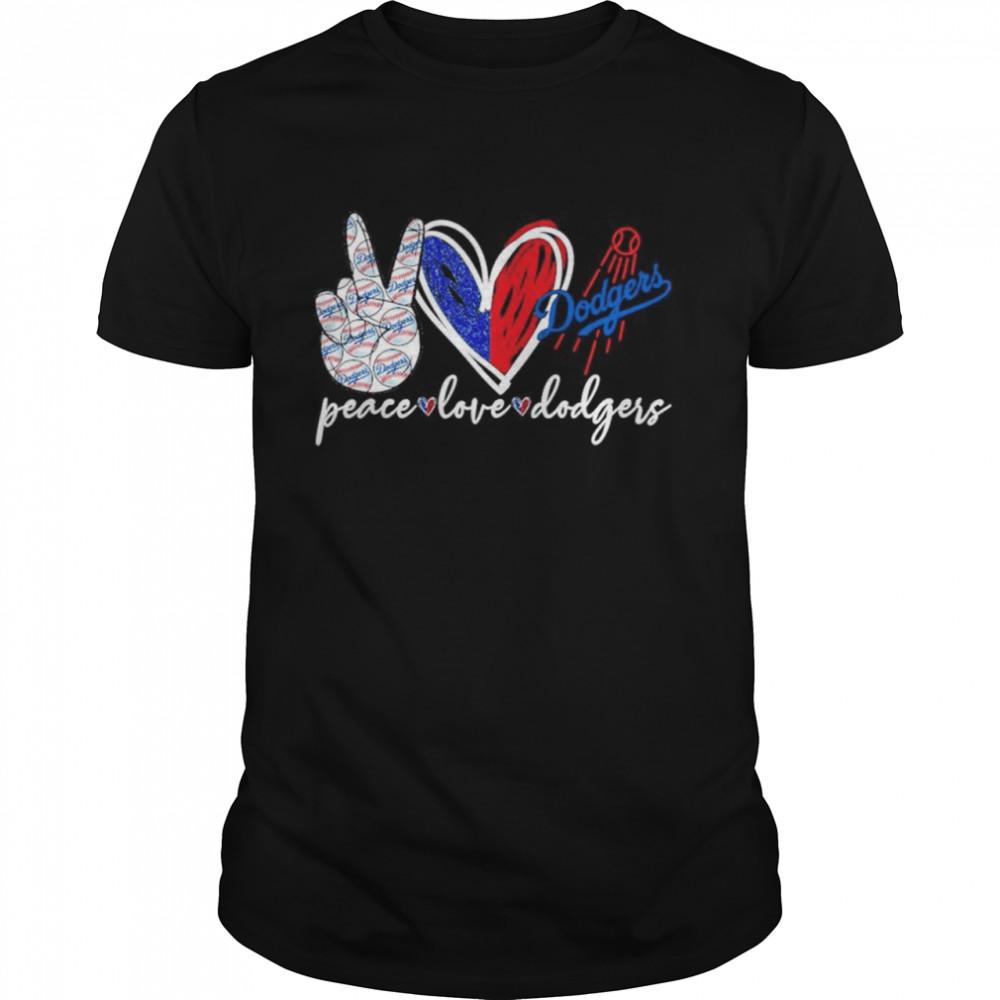 Peace love Dodgers shirt Classic Men's T-shirt