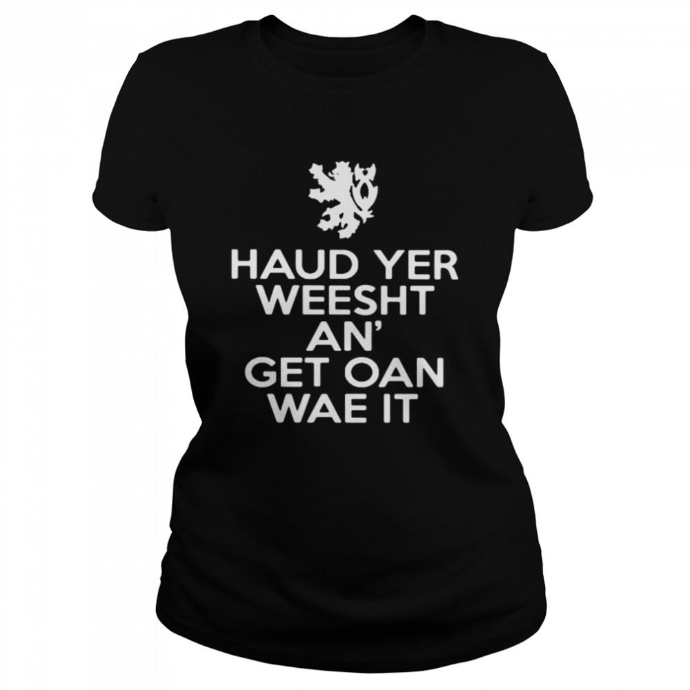 scottish keep calm version classic womens t shirt
