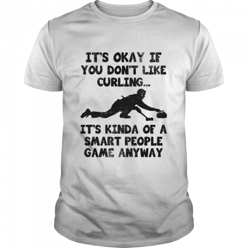 Curling Player Smart Curler Quote  Classic Men's T-shirt