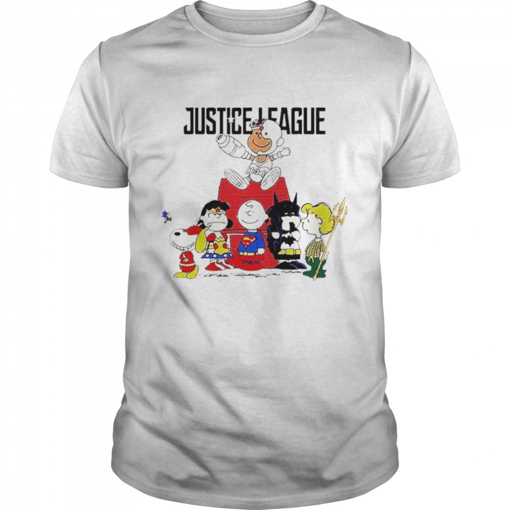 Justice League The Peanuts characters shirt Classic Men's T-shirt