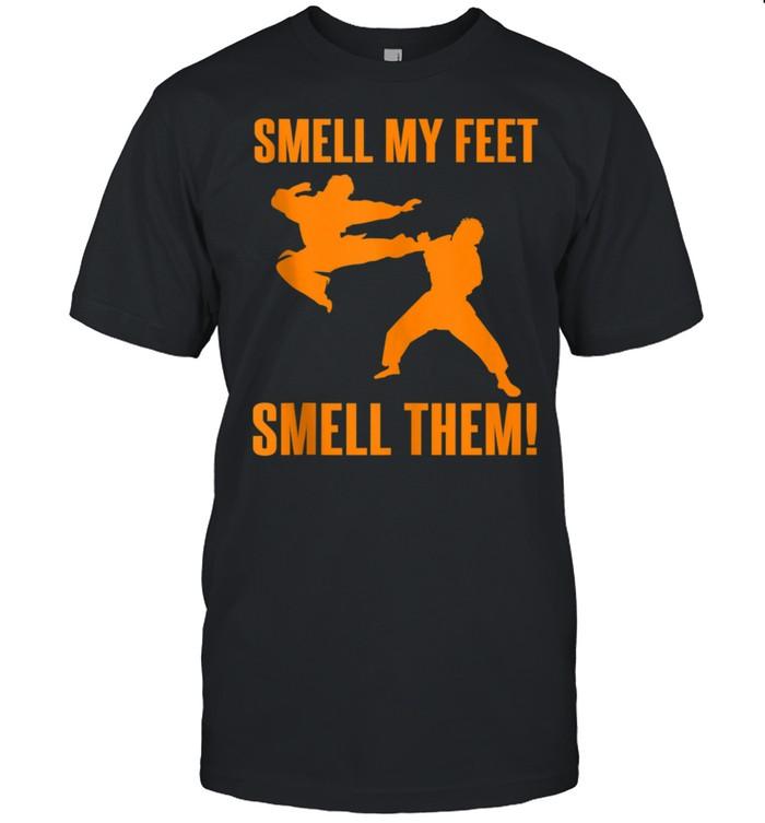 Cool Karate Girls Smell My Feet Karate shirt Classic Men's T-shirt