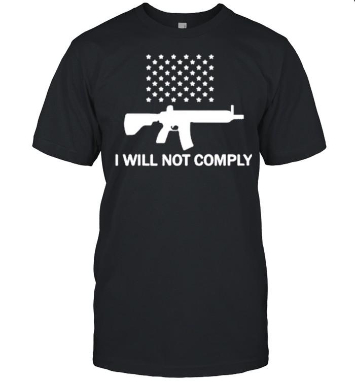 Gun I Will Not Comply Stars shirt Classic Men's T-shirt
