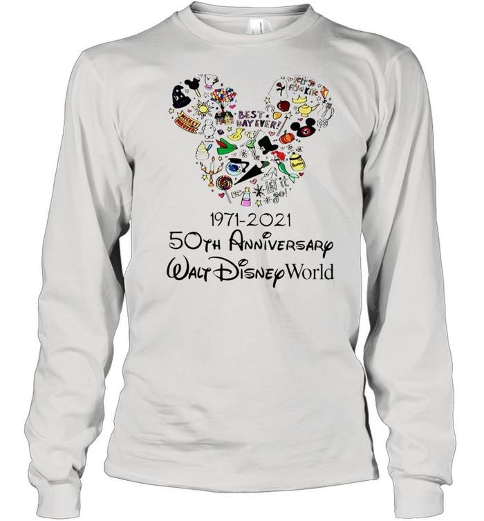 1971 2021 50th anniversary mickey mouse shirt long sleeved t shirt