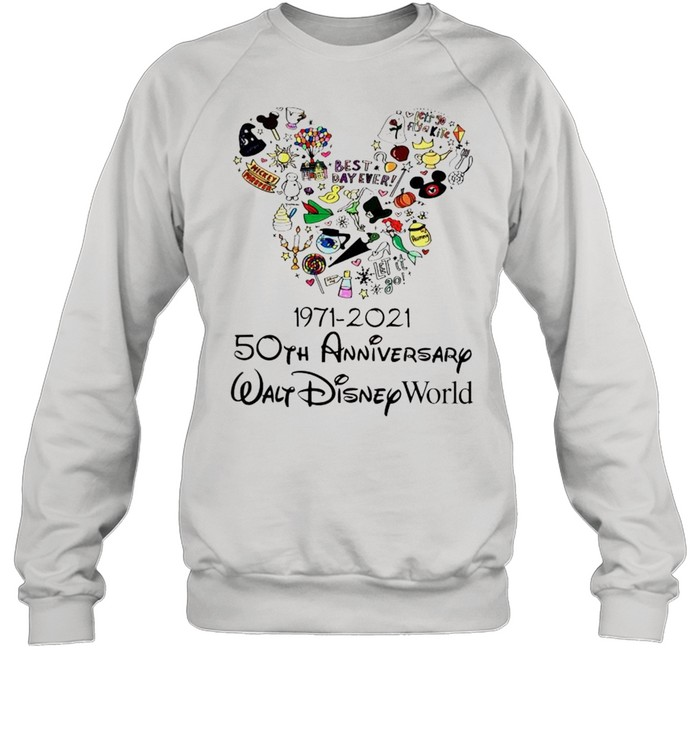 1971 2021 50th anniversary mickey mouse shirt unisex sweatshirt