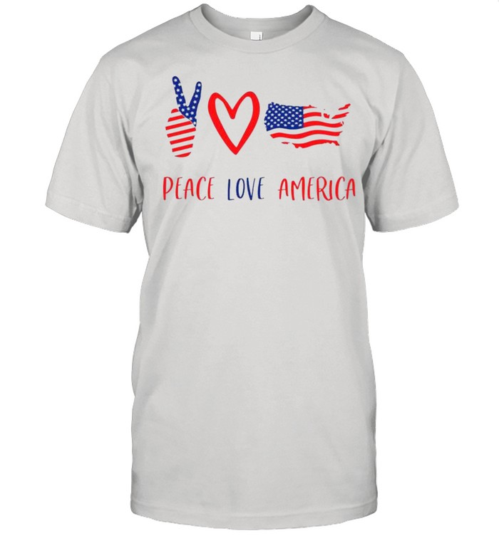 Independence Day 4th Of July Peace Love America shirt Classic Men's T-shirt