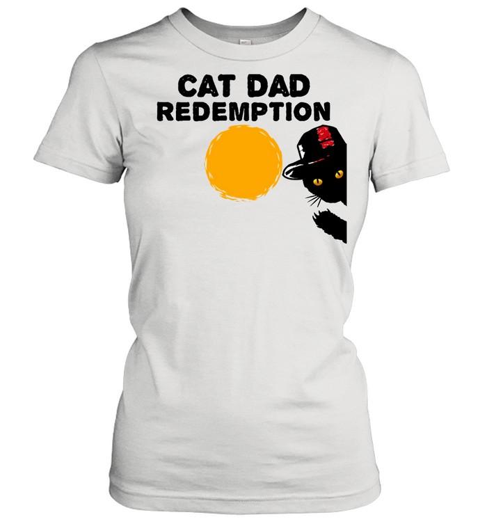 cat dad redemption catdad western parody mashup langarmshirt shirt classic womens t shirt