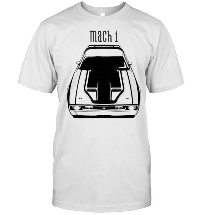 Mustang Mach 1 1971 1972 Black Stripe  Classic Men's T-shirt