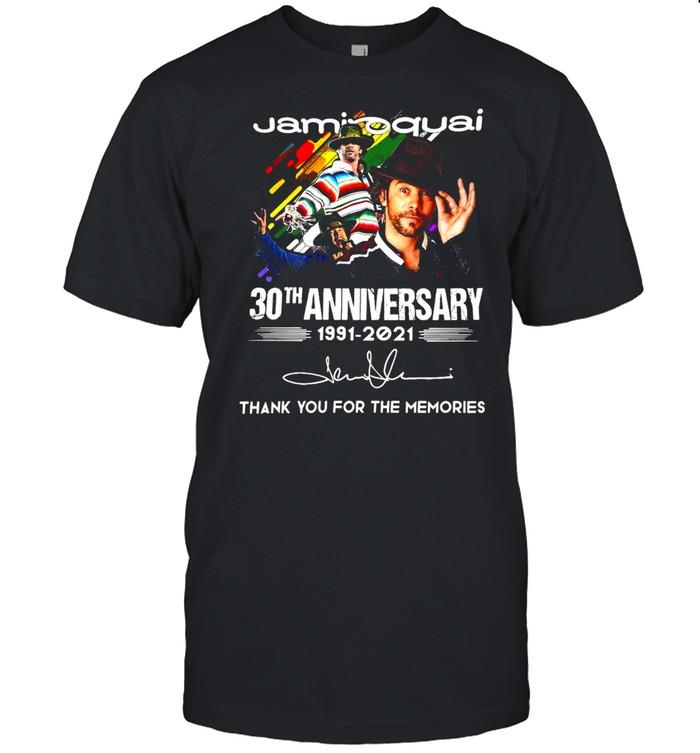 Jamiroquai 30th Anniversary 1991-2021 Thank You For The Memories Signature T-shirt Classic Men's T-shirt