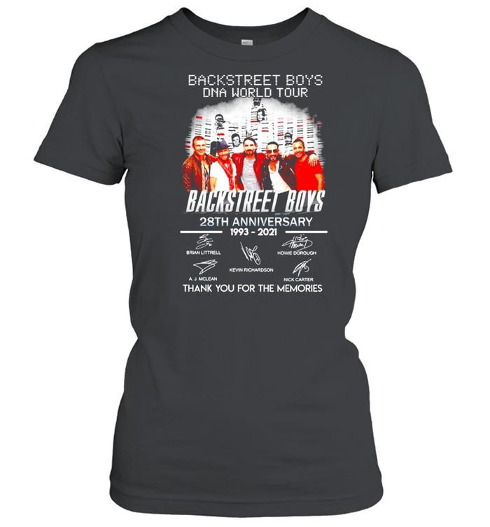 Backstreet Boys DNA world tour 28th Anniversary 1993 2021 thank you for the memories shirt Classic Women's T-shirt