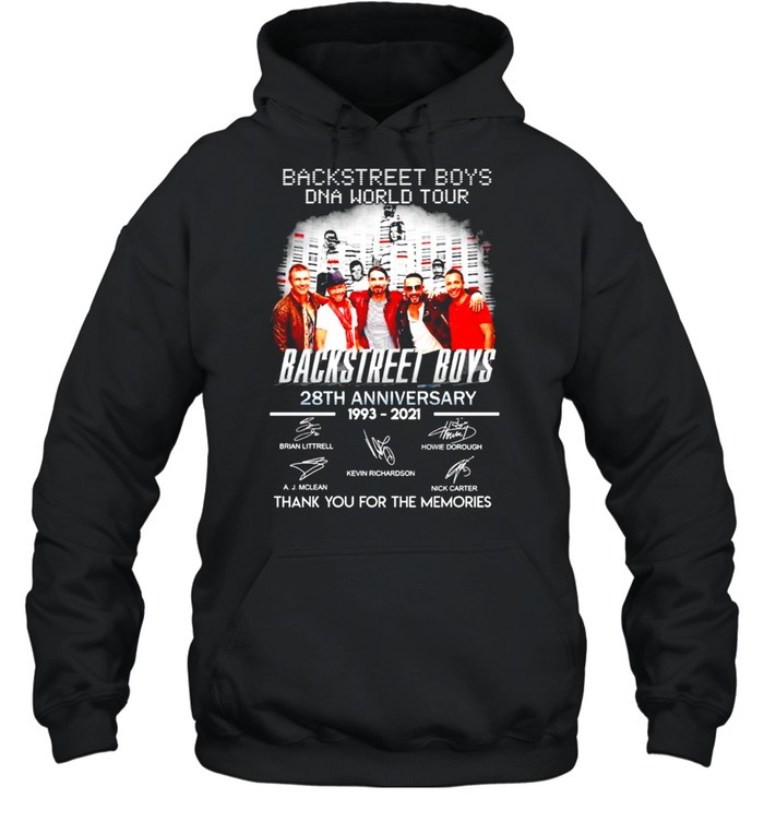 Backstreet Boys DNA world tour 28th Anniversary 1993 2021 thank you for the memories shirt Unisex Hoodie