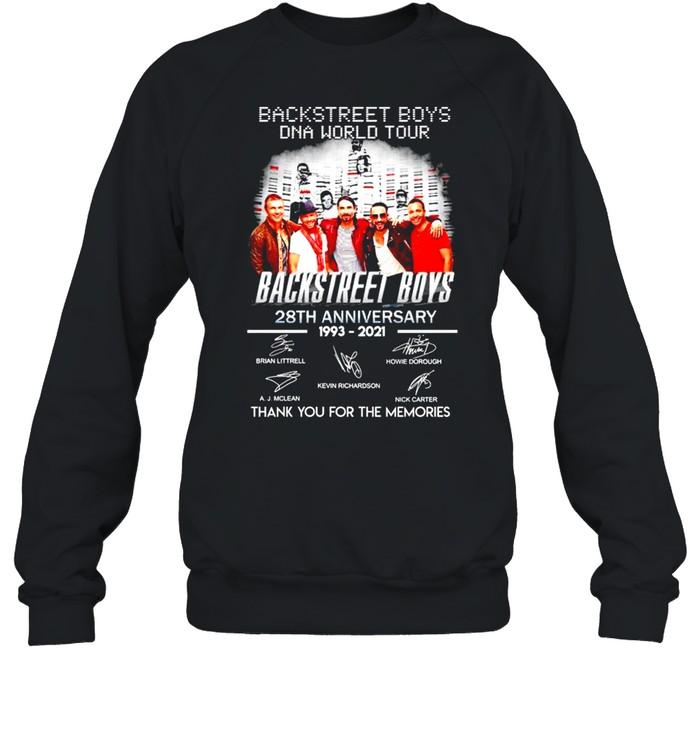 Backstreet Boys DNA world tour 28th Anniversary 1993 2021 thank you for the memories shirt Unisex Sweatshirt
