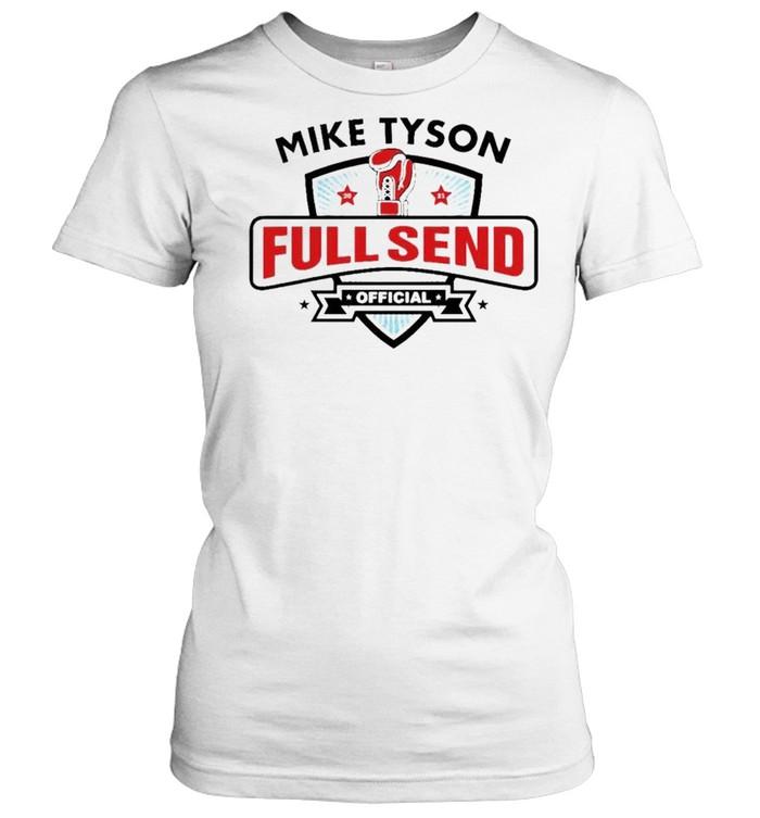 mike tyson x full send official shirt classic womens t shirt