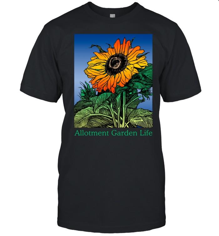 Allotment Garden Life Sunflower Flower Design Gardeners shirt Classic Men's T-shirt