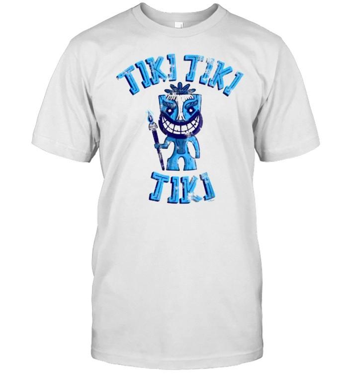 Blue Tiki Man Tropical Hawaiian Vibes Distressed Vintage T- Classic Men's T-shirt