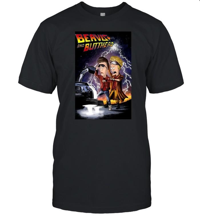 Beavis and Butt Head Back To The Future T-shirt Classic Men's T-shirt