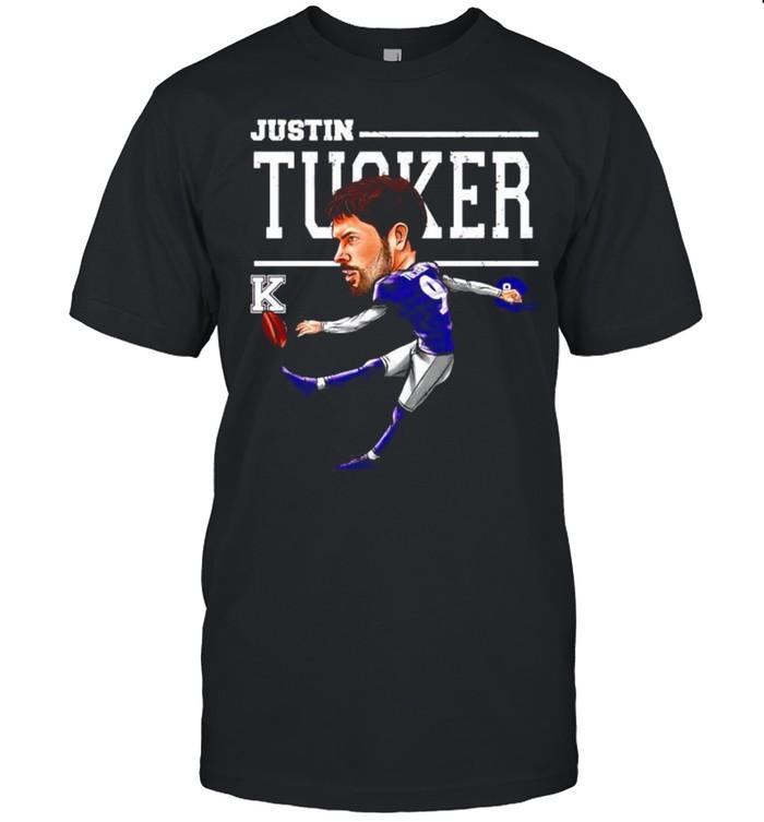 Baltimore Ravens Justin Tucker cartoon shirt Classic Men's T-shirt