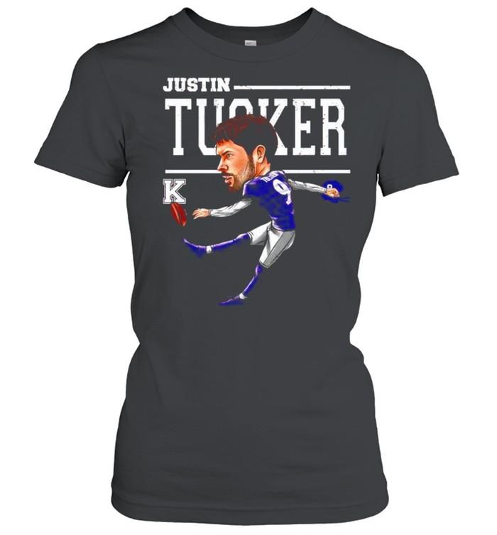 Baltimore Ravens Justin Tucker cartoon shirt Classic Women's T-shirt