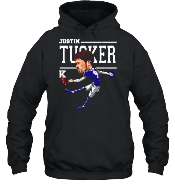 Baltimore Ravens Justin Tucker cartoon shirt Unisex Hoodie