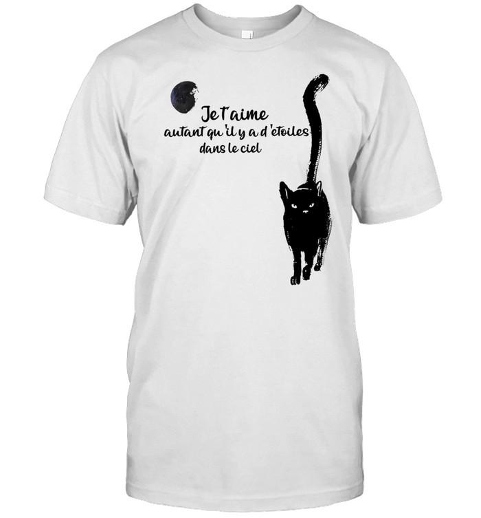 Je t'aime autant qu'il y a d'etoiles dans le ciel shirt Classic Men's T-shirt