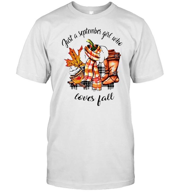 Just a september girl who loves fall shirt Classic Men's T-shirt