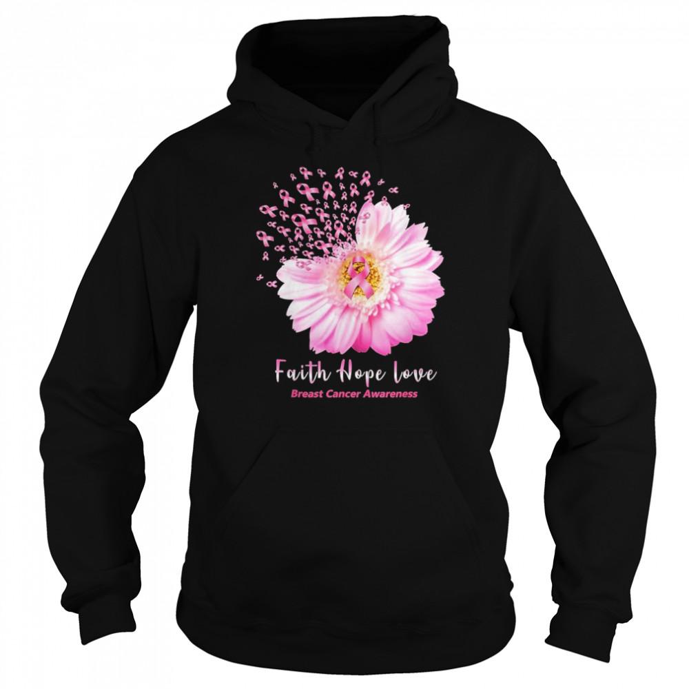 Faith hope love breast cancer awareness shirt Unisex Hoodie