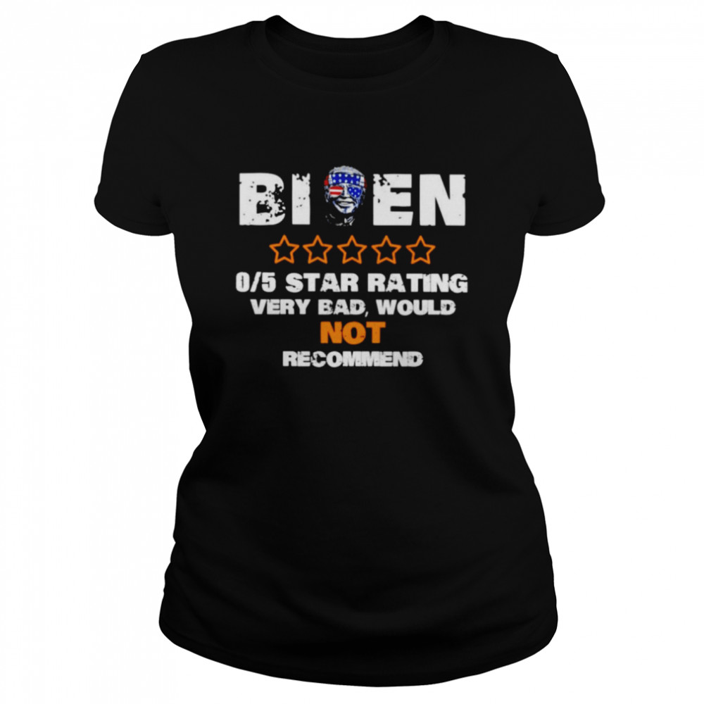Biden 05 star rating very bad would not recommend shirt Classic Women's T-shirt
