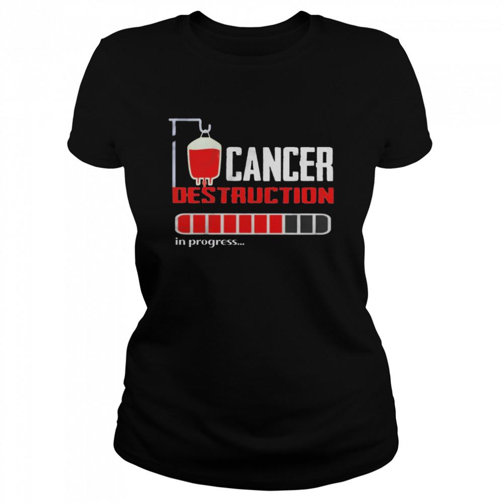 Cancer destruction in progress shirt Classic Women's T-shirt