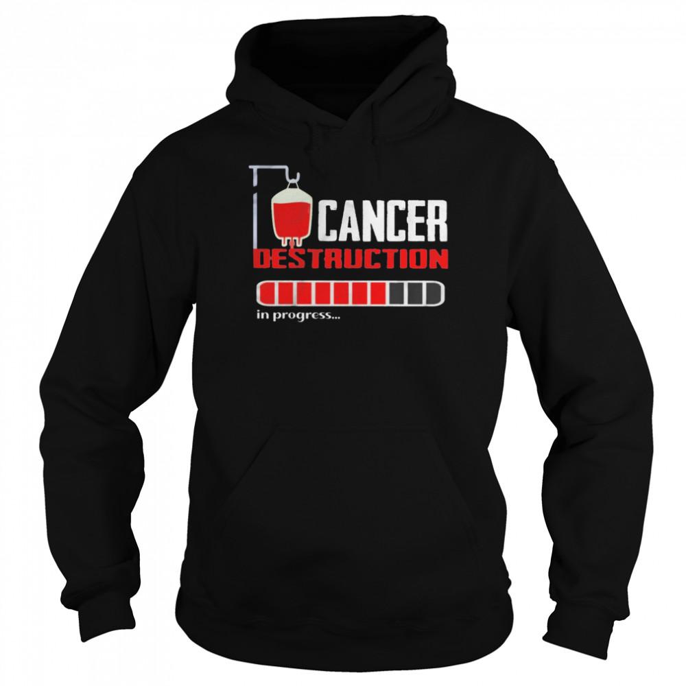 Cancer destruction in progress shirt Unisex Hoodie