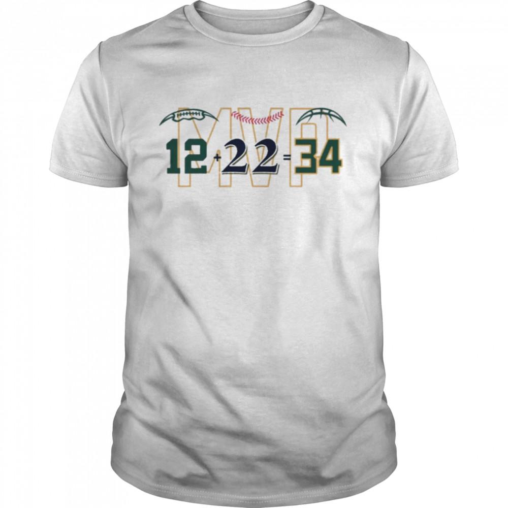 Mvp 12 22 34 Wisconsin white mvp uwshop shirt Classic Men's T-shirt