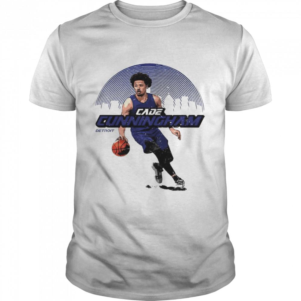 Detroit basketball Cade Cunningham skyline shirt Classic Men's T-shirt