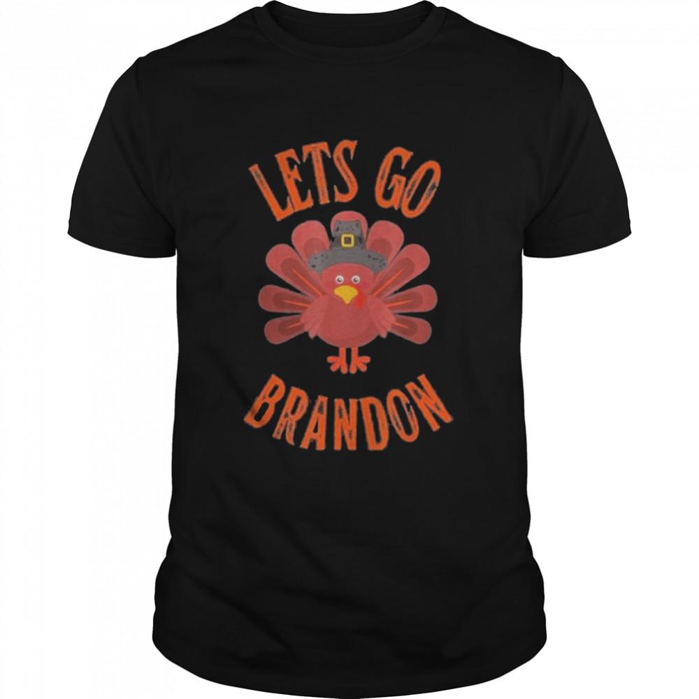Lets Go Brandon Thanksgiving Turkey Foxtrot Juliet Bravo T- Classic Men's T-shirt