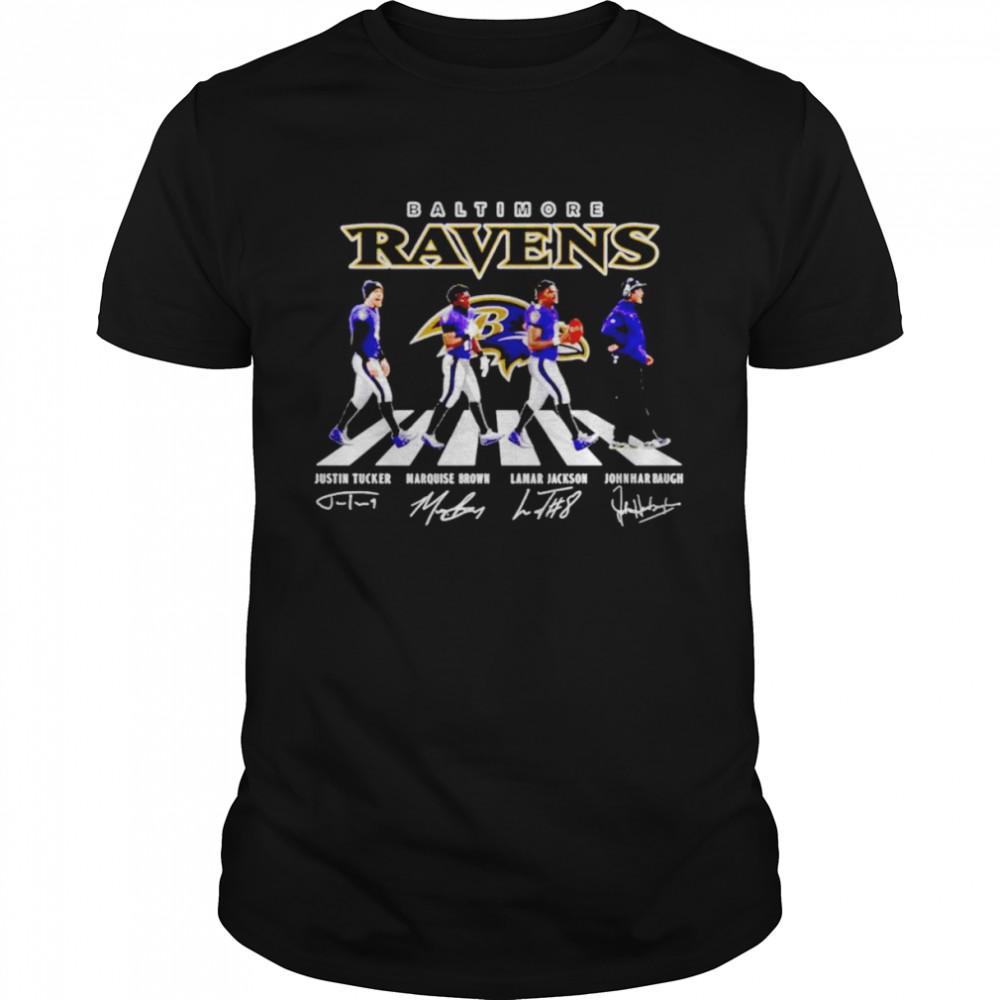 Baltimore Ravens Abbey Road Signatures  Classic Men's T-shirt